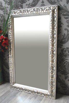 Schlafzimmer Spiegel (Spiegel Wandspiegel STELLA antik silber 80 x 50 )