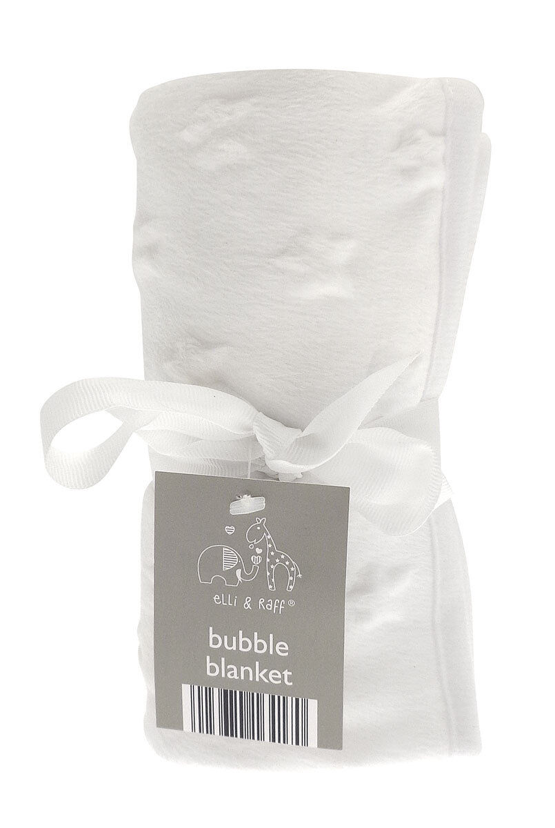 Baby buggy pram cot fleece blanket checked Elli /& Raff 76cm x 101cm
