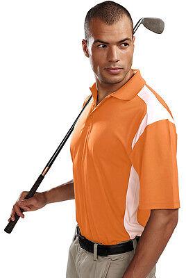 Tri Mountain Mens Performance Short Sleeve Three Button Placke Golf Shirt  145