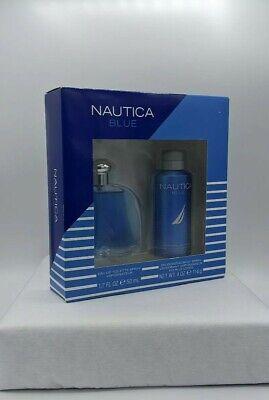 Nautica Blue Eau De Toilette Body Spray & Deodorizing Gift Set New in Box