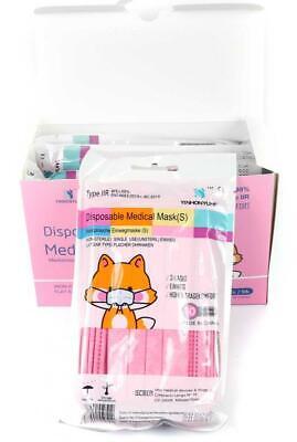 50 Stück 3-lagige Medizinische Einwegmasken für Kinder