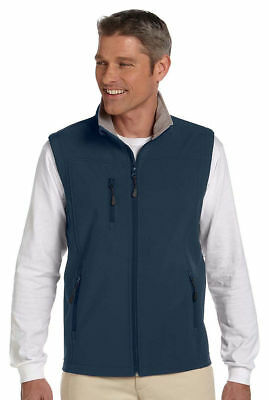 Devon & Jones Men's Polyester Microfleece Flap Soft Shell Best Vest Jacket.