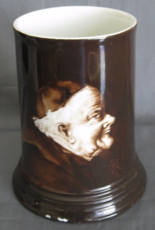 Antique Ester Miler Limoges Monk Mug 1902 Hand Painted Scarce Signed