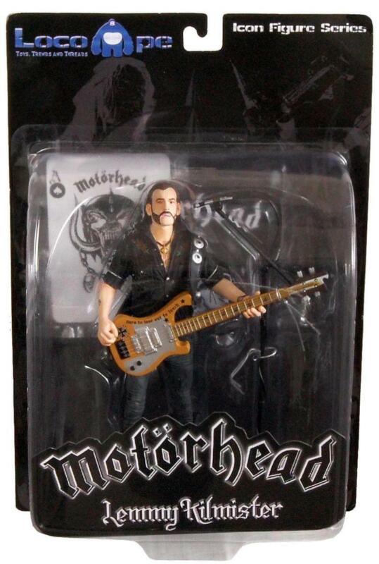 """Motorhead Lemmy Kilmister 7"""" Icon Figure Rickenbacker Guitar Cross"""