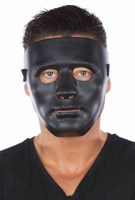 Rub - Maske Gesichtsmaske in schwarz Karneval Halloween Party