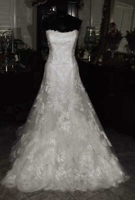 ENZOANI HASINA Bridal Gown Wedding Dress Size 10 Ivory    REF 4744322