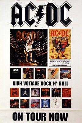 AC/DC 2001 Original U.S. Promo Concert Tour Poster