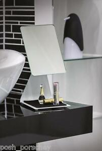 large free standing bathroom mirror large chrome modern free standing pedestal cosmetic 23620
