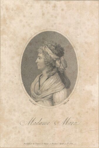 1800 Copperplate Engraving of Opera Soprano Music Singer Gertrud Elisabeth Mara