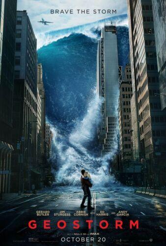 Geostorm - original DS movie poster - 27x40 D/S Advance