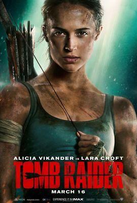 Tomb Raider   Original Ds Movie Poster 27X40 D S Advance   Alicia Vickander 2018