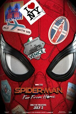 Spider-man Far From Home - original DS movie poster 27x40 D/S Advance - 2019
