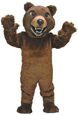 Brown Grizzly Bear Professional Quality Mascot Costume Adult - Grizzly Bear Costumes