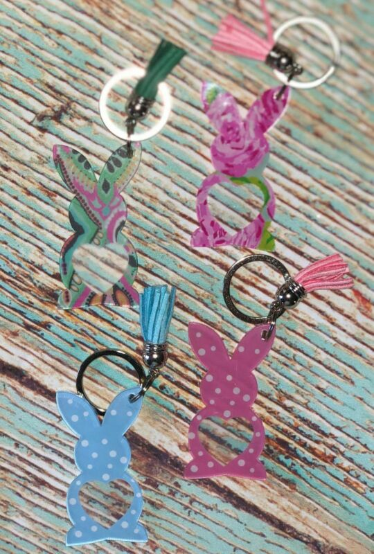 Bunny Keychains With Tassel