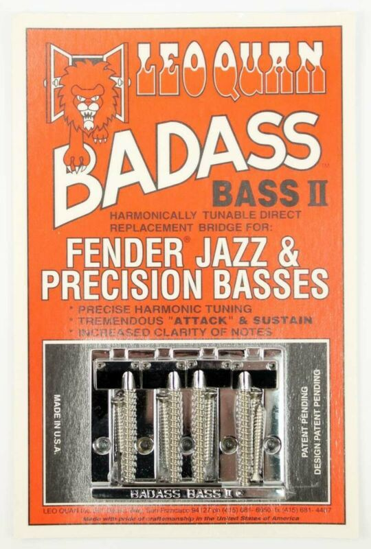 NEW Leo Quan Badass Bass II BRIDGE for Fender Precision Jazz Chrome BB-0335-010