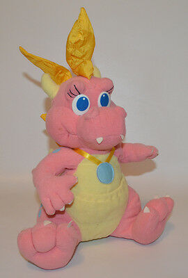 "DRAGONTALES Cassie Dragon Tales Pink Plush Toy Stuffed Animal 11"" Vtg 1999  (24)"