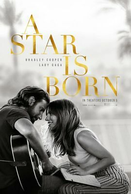 A Star Is Born - original DS movie poster 27x40 D/S Advance - Lady Gaga , Cooper