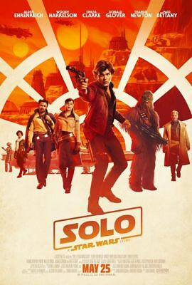 Solo A Star Wars Story - original DS movie poster - 27x40 D/S FINAL 2018 Han