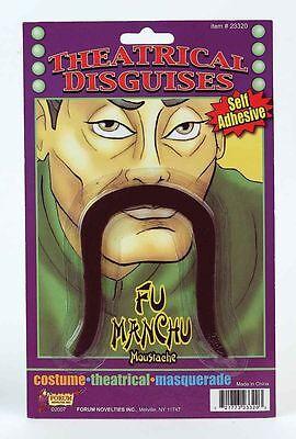 Fu Manchu Moustache Self Adhesive Chinese Mustache Costume - Fu Manchu Mustache Costume