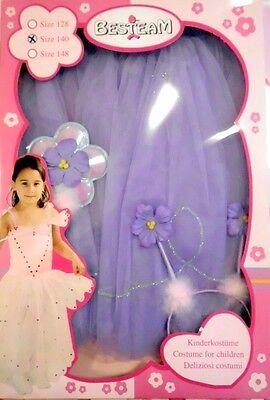 ostüm Prinzessin Fee  lila Gr. 140  (Lila Fee Prinzessin Kostüm)