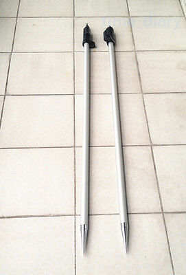 New 2pcs 2.15m 7 Ft Prism Pole For Total Stations Surveying 58x11 Thread