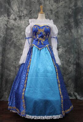 Disney Dornröschen Kostüme (Dornröschen Sleeping Beauty Aurora Disney Cosplay Kostüm Kleid lang Märchen v3)