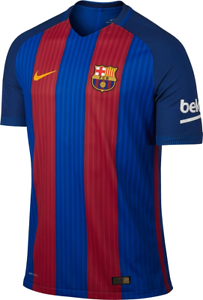 new styles dbae4 ed9eb Nike 2016 FC Barcelona Home Stadium Soccer Jersey L 776850