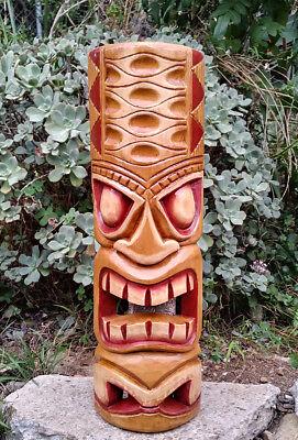 """Tribal Tiki Mask Wood Wall  Patio Tropical Bar Decor 20"""""""