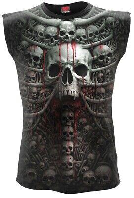 Spiral Death Ribs Tank Top Shirt Gothic Bones Skelett All Over Print #3221 209 (Skelett Tank Top)