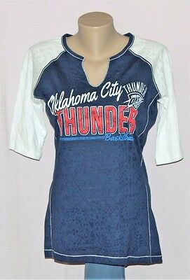 Majestic Oklahoma City Thunder Womens Prowess 3 4 Sleeve T Shirt Xl   Nba