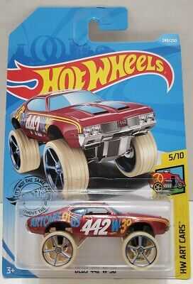 NEW! 2019 HOT WHEELS OLDS 442 W-30 RED 240/250 HW ART CARS 5/10