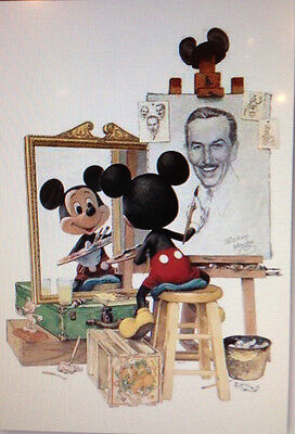 Walt Disney Mickey Mouse Self Portrait  Art Print 16 x 20