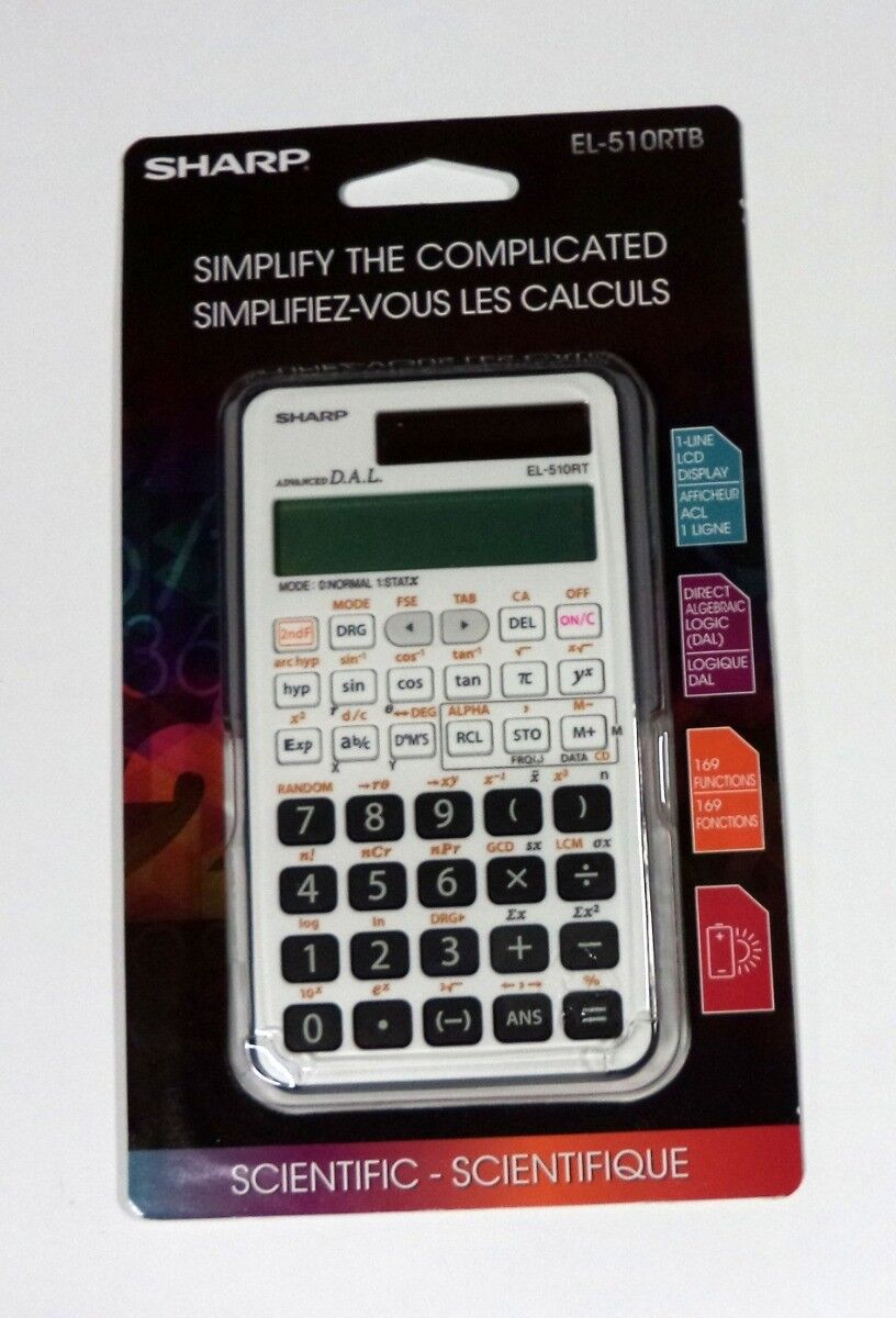 NEW!!!! Sharp Scientific Calculator EL-510RTB AX98/10