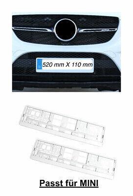 2x Top Kennzeichenhalter Nummernschildhalter Hochglanz Weiß Made in EU (41