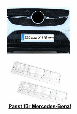 2x Top Kennzeichenhalter Nummernschildhalter Hochglanz Weiß Made in EU (38