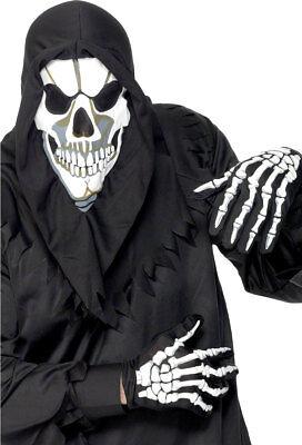 Latex Bones Skull Face Grim Reaper adult Halloween costume accessory Reel F//X
