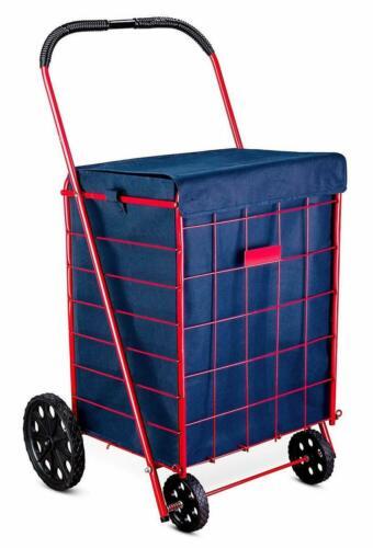Folding Shopping Cart Liner Rolling Utility Trolley Grocery Basket Waterproof