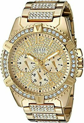 NEW GUESS Men's Stainless Steel Crystal Dress Watch U0799G2