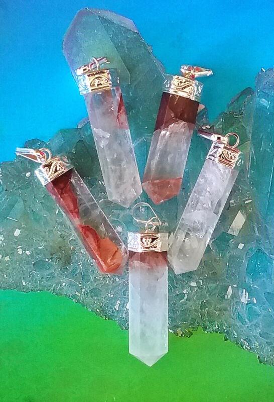 LITHIUM Crystal Quartz PENDANT, 30 Carat Lithium Quartz NECKLACE,, HEMP CHAIN