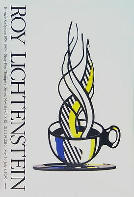 Cup and Saucer by Roy Lichtenstein Art Print 1989 Poster 61x41