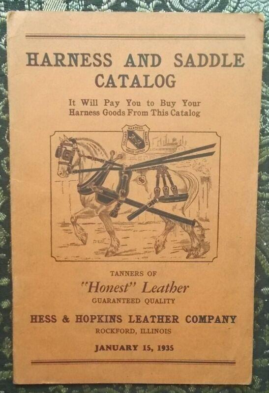 1935 HESS & HOPKINS HARNESS AND SADDLE CATALOG