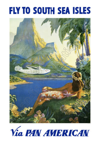 Pan Am Airlines To The South Sea Isles – Late 1930's Advertising Poster