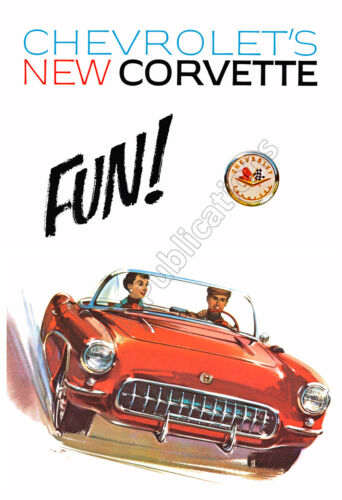 1958 Chevrolet Corvette Awesome Vintage Advertising Poster