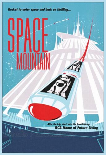Disney's Space Mountain Ride - Vintage Poster