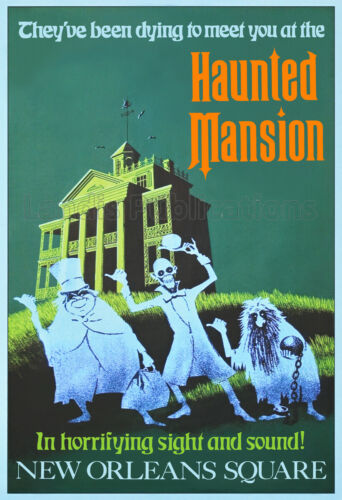 Disneyland Haunted Mansion – Vintage Poster