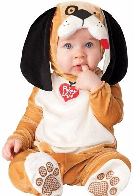 Baby Puppy Love Costume Dog Doggy Infant Toddler Plush - 0-6 6-12 12-18 18-24