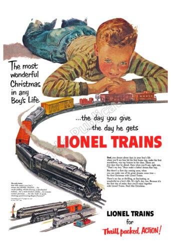 Lionel Trains For Christmas - 1951 Vintage Poster