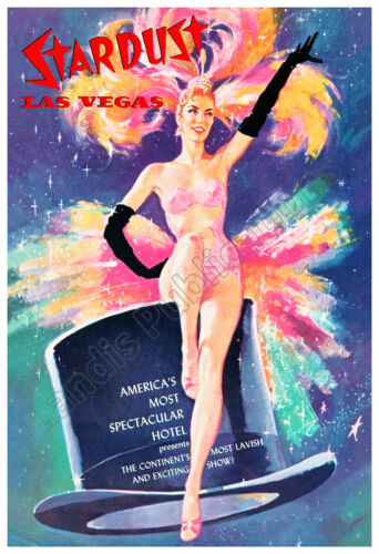 Las Vegas Stardust Hotel Awesome 1958 Vintage Poster