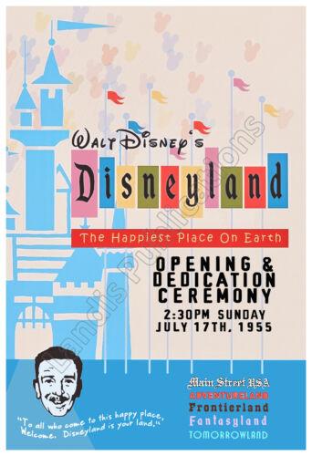 Disneyland 1955 Grand Opening Ceremony – Vintage Poster