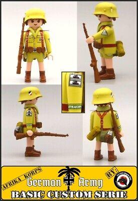 Playmobil Custom WW2 AFRIKA KORPS Obergefreiter SOLDADO EJERCITO ALEMAN Wehrmach